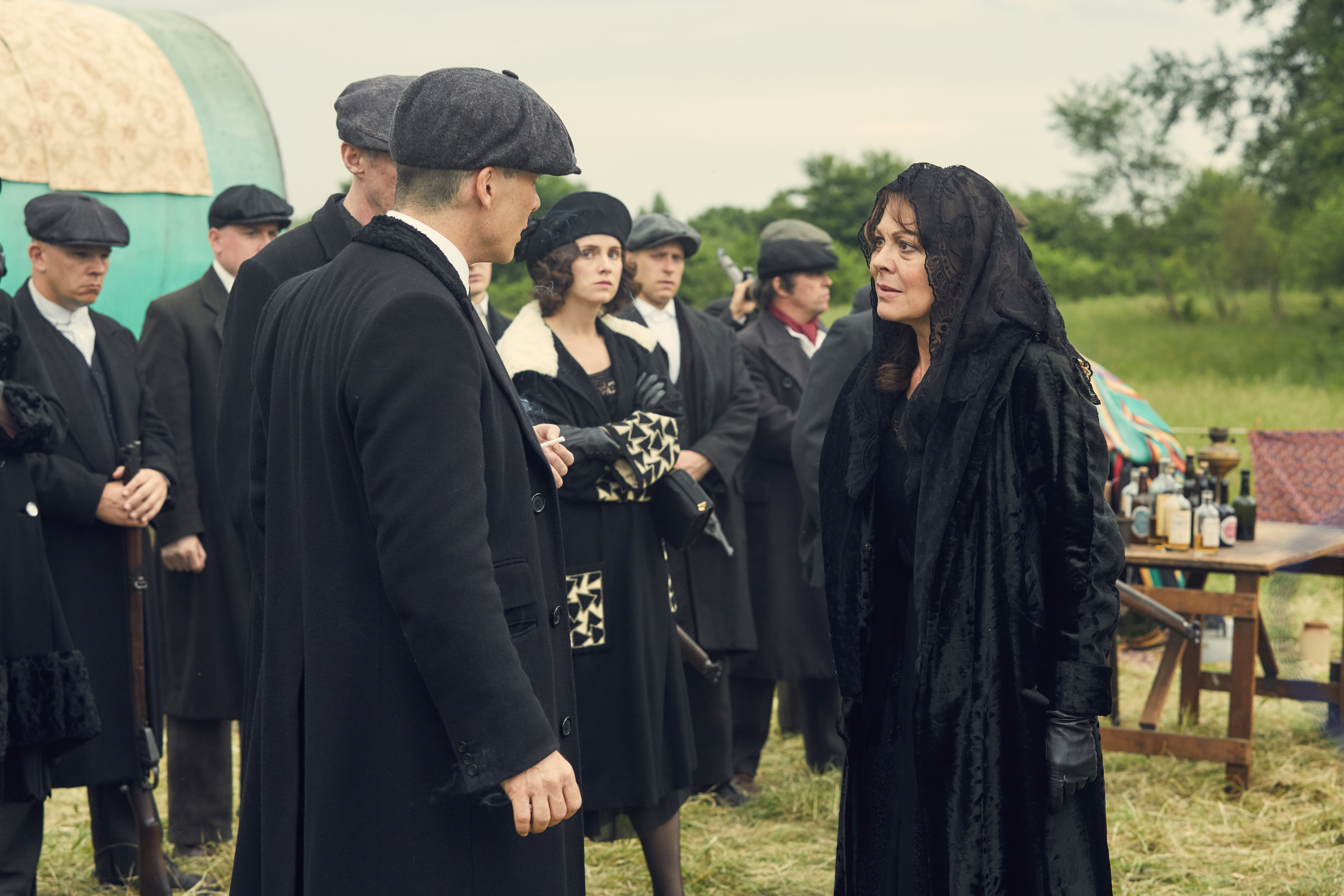 "pollyfan fucks-47"" Thomas Shelby, PollyGray and Shelbys at John's funeral"